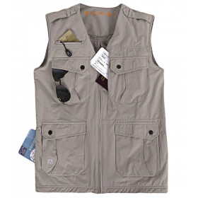Gilet multipoches stretch Homme AYERS ROCK Beige