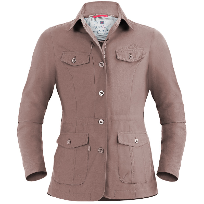 Multipocket stretch safari jacket