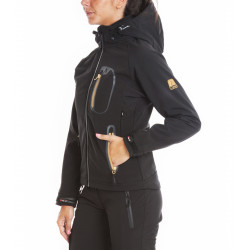 Warm Softshell hooded jacket