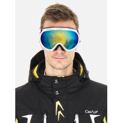 Dual lens ski goggles