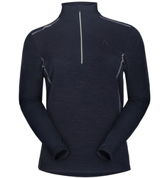 Extra Warm Zip Collar Thermal Base Layer With Merino Wool