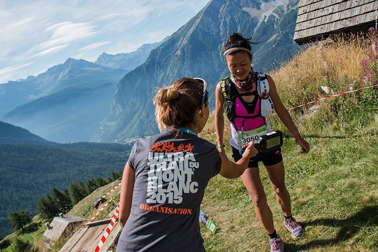 Passing the check point on the UTMB®
